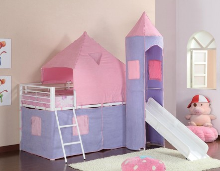 Coaster Girl Castle Loft Bed With Slide Dallas Tx Kids Bunk Bed