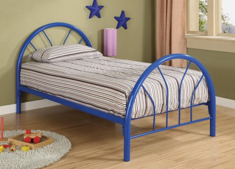 Coaster Fordham Blue Twin Metal Bed Available Online in Dallas Fort Worth Texas