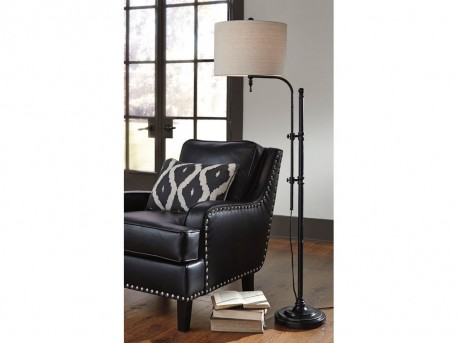 Ashley Anemoon Black Metal Floor Lamp Available Online in Dallas Fort Worth Texas