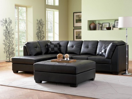 Darie Black Sectional Available Online in Dallas Fort Worth Texas