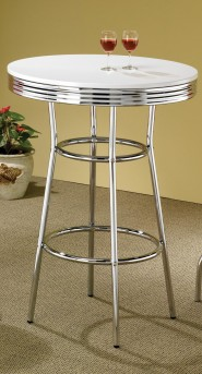 Coaster Cleveland Silver Bar Table Available Online in Dallas Fort Worth Texas