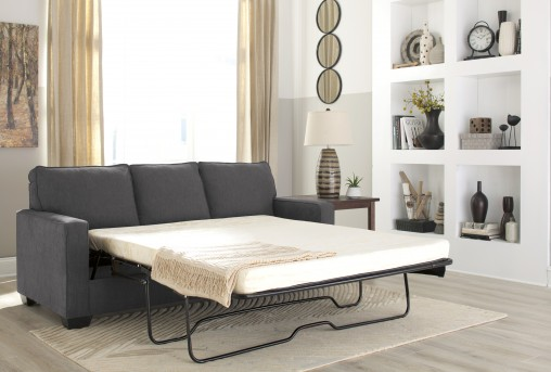 Ashley Zeb Charcoal Queen Sofa Sleeper Available Online in Dallas Fort Worth Texas