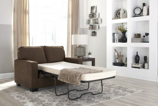 Ashley Zeb Espresso Twin Sofa Sleeper Available Online in Dallas Fort Worth Texas