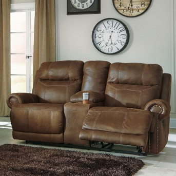 Ashley Austere Power Reclining Loveseat with Console Available Online in Dallas Fort Worth Texas