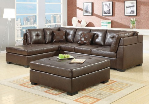 Coaster Darie Brown Sectional Available Online in Dallas Fort Worth Texas