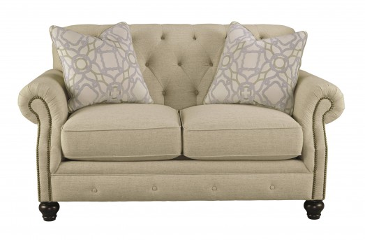 Ashley Kieran Cream Loveseat Available Online in Dallas Fort Worth Texas
