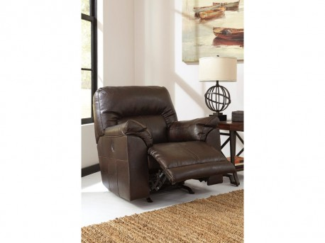 Ashley Barrettsville Durablend Chocolate Power Rocker Recliner Available Online in Dallas Fort Worth Texas
