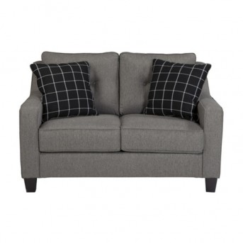 Ashley Brindon Charcoal Loveseat Available Online in Dallas Fort Worth Texas