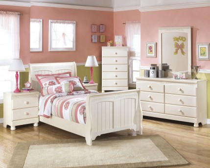 Ashley Cottage Retreat 5pc Twin Sleigh Bedroom Group Available Online in Dallas Fort Worth Texas