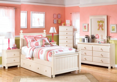 Ashley Cottage Retreat 5pc Twin Trundle Bedroom Group Available Online in Dallas Fort Worth Texas
