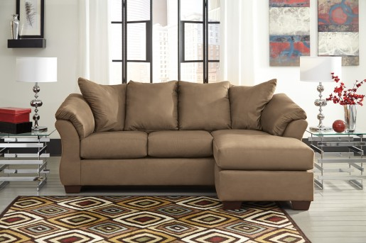 Ashley Darcy Mocha Sofa Chaise Available Online in Dallas Fort Worth Texas