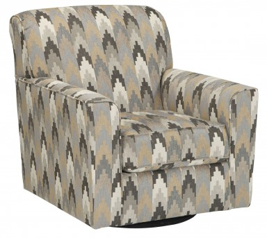 Braxlin Charcoal Swivel Accent Chair Available Online in Dallas Fort Worth Texas