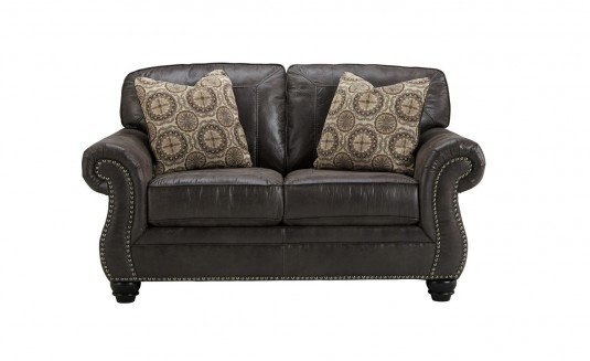 Ashley Breville Charcoal Loveseat Available Online in Dallas Fort Worth Texas