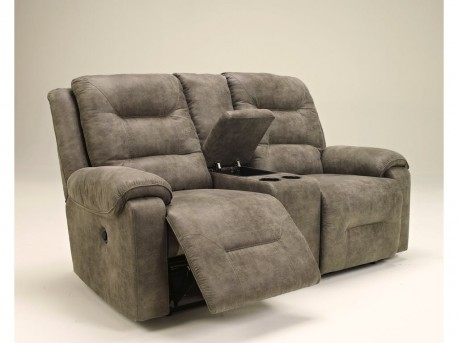 Ashley Rotation Smoke Power Loveseat With Console Available Online in Dallas Fort Worth Texas
