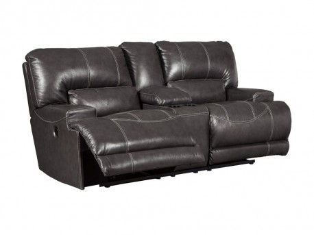 Ashley McCaskill Gray Power Loveseat With Console Available Online in Dallas Fort Worth Texas