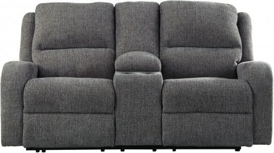Ashley Krismen Charcoal Power Reclining Console Loveseat Available Online in Dallas Fort Worth Texas