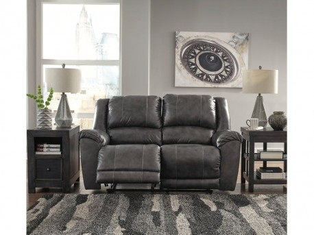 Ashley Persiphone Charcoal Reclining Loveseat Available Online in Dallas Fort Worth Texas