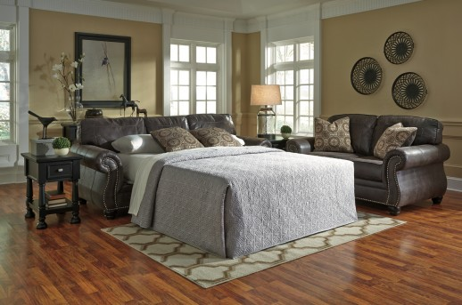 Ashley Breville Charcoal Queen Sofa Sleeper Available Online in Dallas Fort Worth Texas