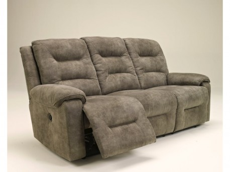 Ashley Rotation Smoke Reclining Power Sofa Available Online in Dallas Fort Worth Texas