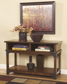 Ashley Murphy Medium Brown Console Sofa Table Available Online in Dallas Fort Worth Texas