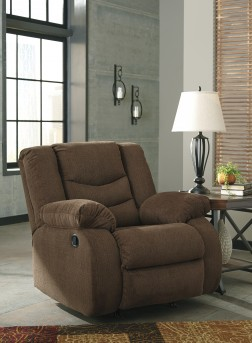 Ashley Tulen Chocolate Rocker Recliner Available Online in Dallas Fort Worth Texas