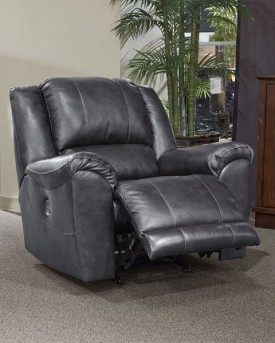 Ashley Persiphone Charcoal Power Rocker Recliner Available Online in Dallas Fort Worth Texas