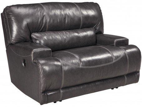 Ashley McCaskill Gray Wide Seat Power Recliner Available Online in Dallas Fort Worth Texas