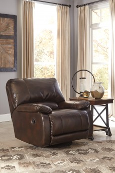 Ashley Hallettsville Saddle Swivel Glider Recliner Available Online in Dallas Fort Worth Texas