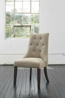 Ashley Mestler Light Brown Upholstered Side Chair Available Online in Dallas Fort Worth Texas