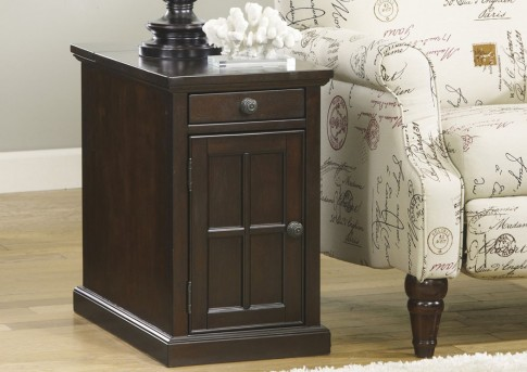 Ashley Laflorn Dark Brown Door Chair Side Table Available Online in Dallas Fort Worth Texas