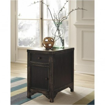 Ashley Gavelston Black Chair Side Table Available Online in Dallas Fort Worth Texas