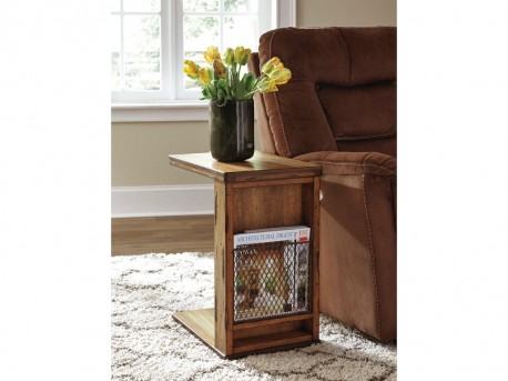 Ashley Tamonie Medium Brown Chair Side Table Available Online in Dallas Fort Worth Texas