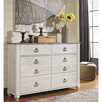 Ashley Willowton White Dresser Available Online in Dallas Fort Worth Texas