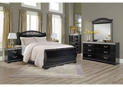 Ashley Constellations 5pc Queen Sleigh Bedroom Group Available Online in Dallas Fort Worth Texas