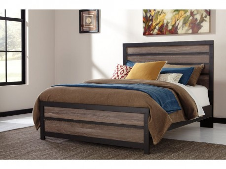 Ashley Harlington Queen Panel Bed Available Online in Dallas Fort Worth Texas