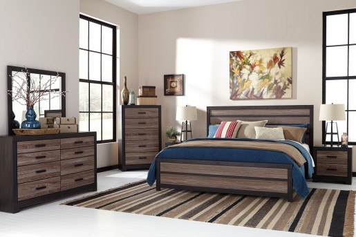 Ashley Harlington 5pc Queen Panel Bedroom Group Available Online in Dallas Fort Worth Texas