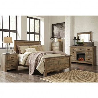 Ashley Trinell 5pc King Panel Bedroom Group Available Online in Dallas Fort Worth Texas