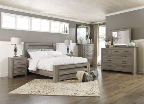 Ashley Zelen 5pc Queen Poster Bedroom Group Available Online in Dallas Fort Worth Texas