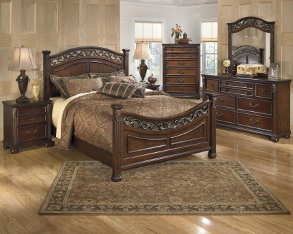 Ashley Leahlyn 5pc Queen Panel Bedroom Group Available Online in Dallas Fort Worth Texas