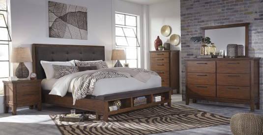 Ashley Ralene 5pc Queen Panel Storage Bedroom Group Available Online in Dallas Fort Worth Texas