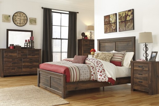Ashley Quinden 5pc King Panel Bedroom Group Available Online in Dallas Fort Worth Texas