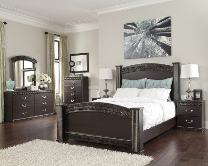 Ashley Vachel 5pc Queen Poster Bedroom Group Available Online in Dallas Fort Worth Texas