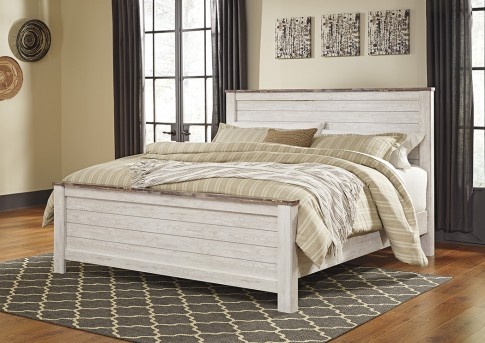 Ashley Willowton King Panel Bed Available Online in Dallas Fort Worth Texas