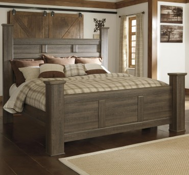 Ashley Juararo Cal King Poster Bed Available Online in Dallas Fort Worth Texas