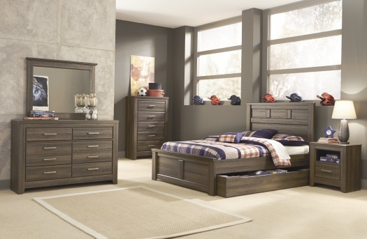 Ashley Juararo 5pc Full Panel Trundle Storage Bedroom Group Available Online in Dallas Fort Worth Texas