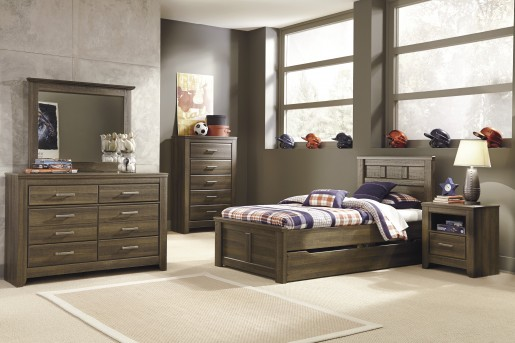 Ashley Juararo 5pc Twin Panel Trundle Storage Bedroom Group Available Online in Dallas Fort Worth Texas