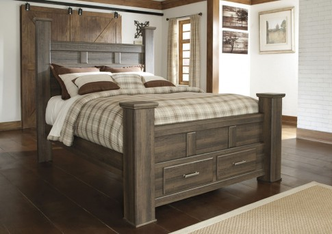 Ashley Juararo King Poster Storage Bed Available Online in Dallas Fort Worth Texas