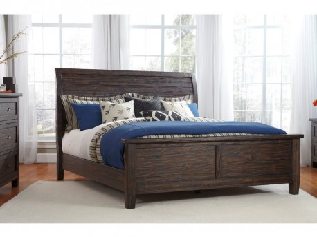 Trudell Cal King Sleigh Bed Available Online in Dallas Texas