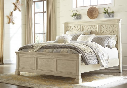 Ashley Bolanburg Cal King Panel Bed Available Online in Dallas Fort Worth Texas