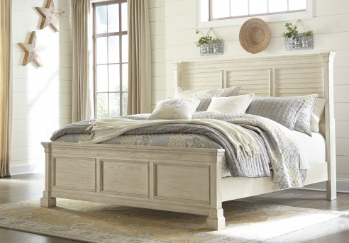 Ashley Bolanburg Cal King Louvered Panel Bed Available Online in Dallas Fort Worth Texas